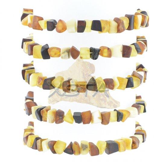 Raw amber bracelet mix color beads