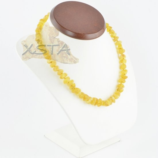Raw amber necklace baroque yellow