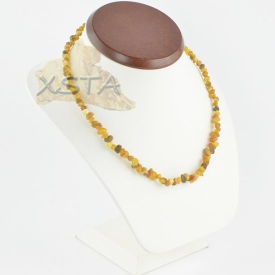 Raw amber necklace chips