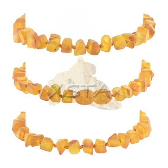 Raw cognac amber bracelet with screw clasp