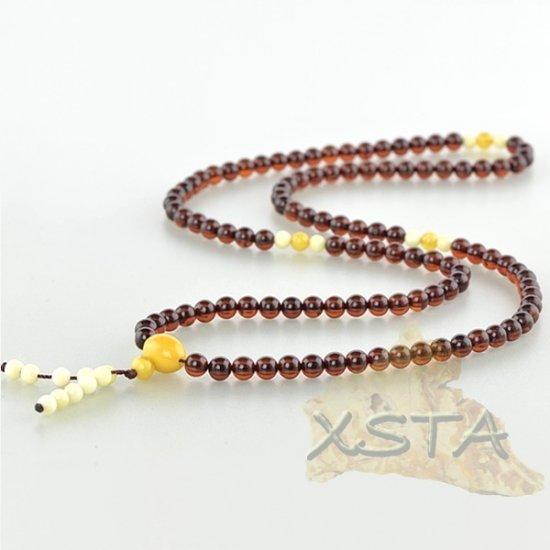 Round mala prayer amber rosary