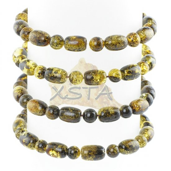 Wholesale green amber beads bracelet