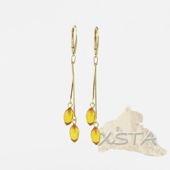 Wholesale natural amber earrings
