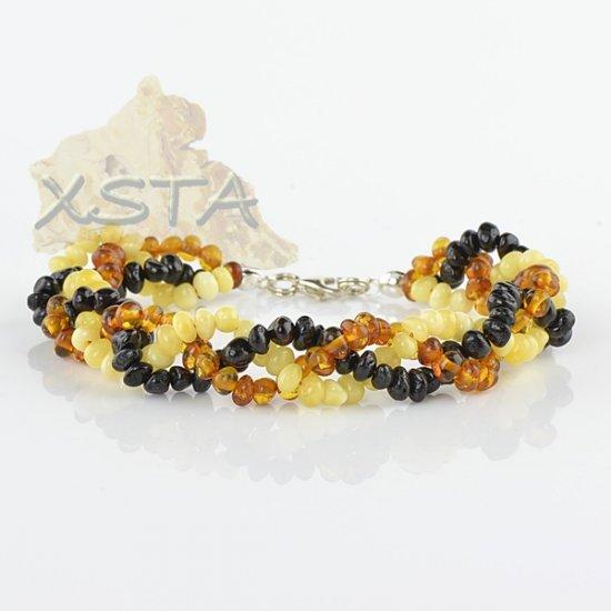 Mix amber bracelet Polished beads