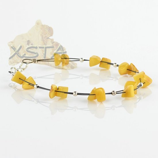 Wholesale Baltic amber bracelet with wire