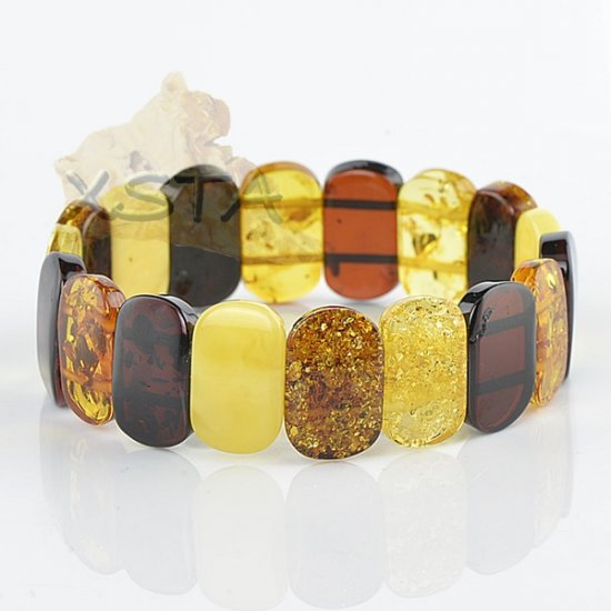 Natural wholesale amber bracelet mix