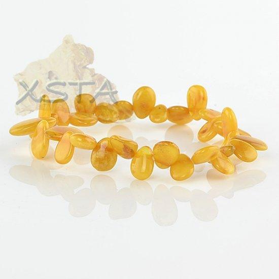 Dark butterscotch drop amber bracelet