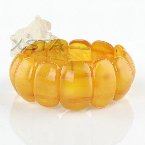 Baltic amber bracelet - natural