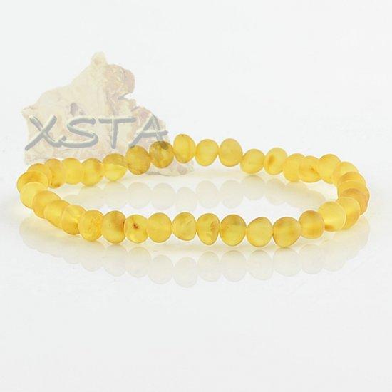 Raw amber beads bracelet Dark yellow