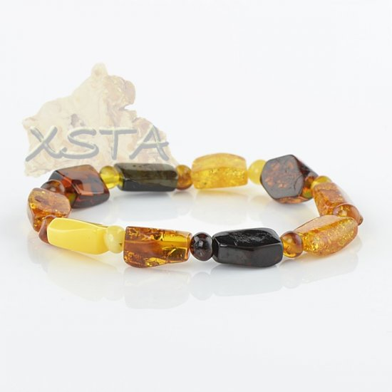 Baltic amber mix polished bracelet