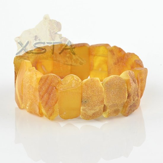 Natural Baltic amber raw beads bracelet