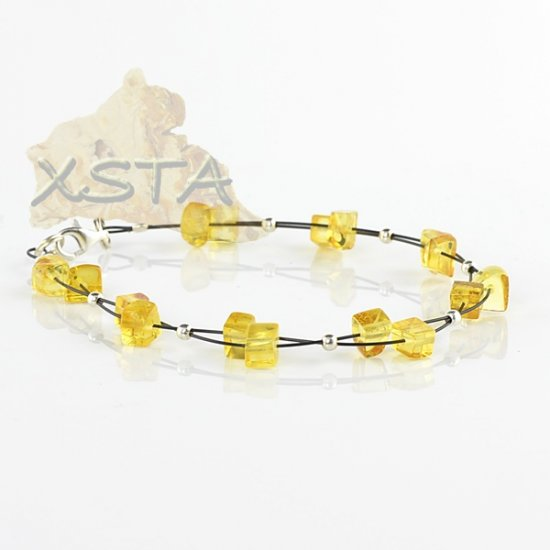 Baltic amber bracelet Adults / with wire