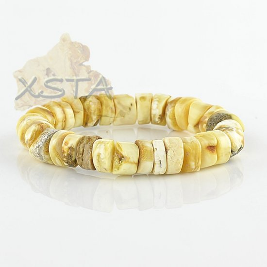 Baltic amber yellow natural bracelet