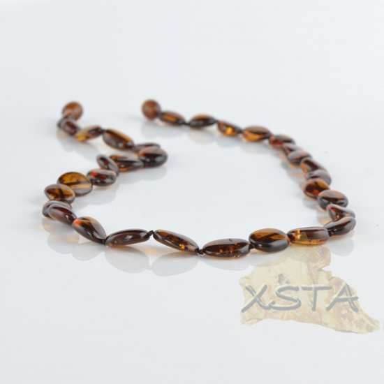 Cherry Amber necklace flat olive