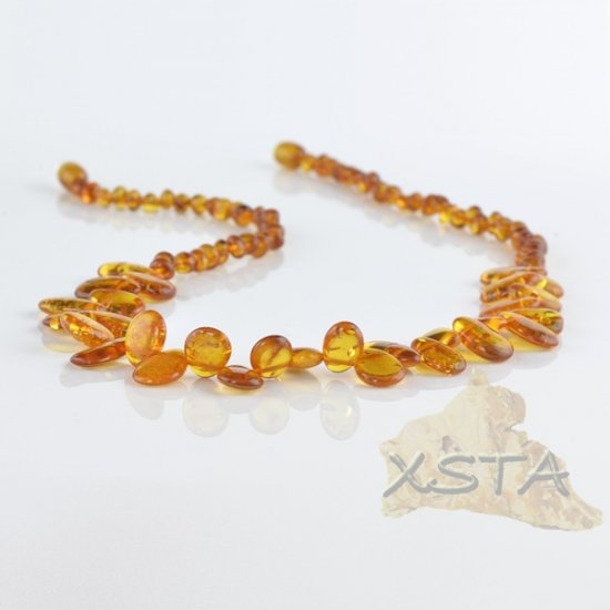 Amber cognac necklace