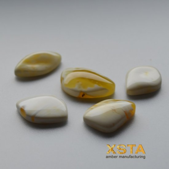 Amber 5 unit wholesale cabochons