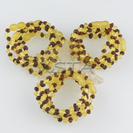 Amber teething bracelet baroque cherry yellow raw