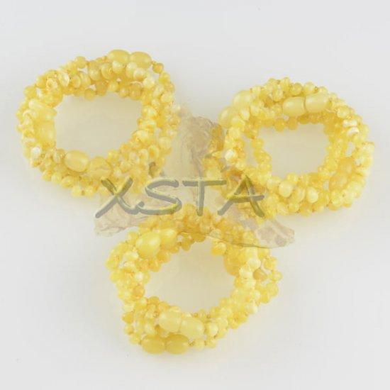 Amber teething bracelet baroque matte polished