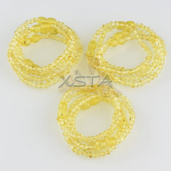 Amber teething bracelets Polished lemon