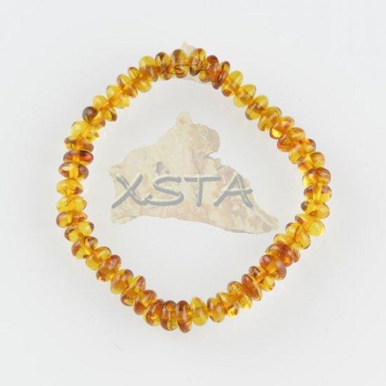 Amber teething bracelet cognac