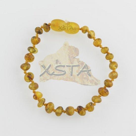 Amber teething bracelet light green