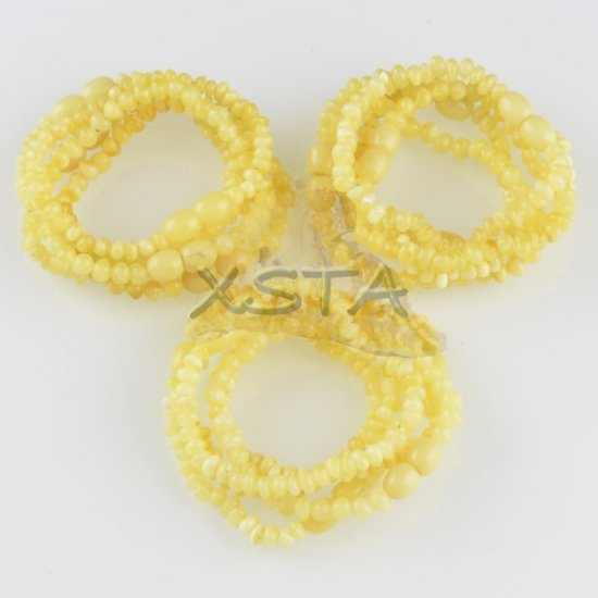 Matte Amber teething bracelet