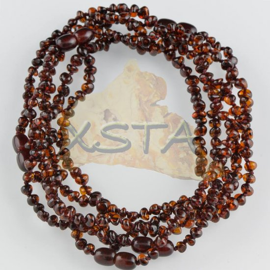 Flat cherry polished teething necklace