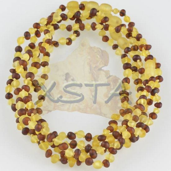 Amber teething necklace raw yellow cherry