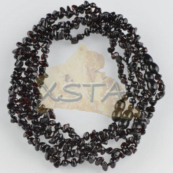 Flat black polished teething necklace