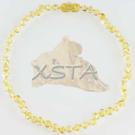 Teething necklace polished yellow