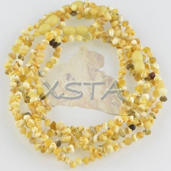 Amber raw teething necklace raw butter
