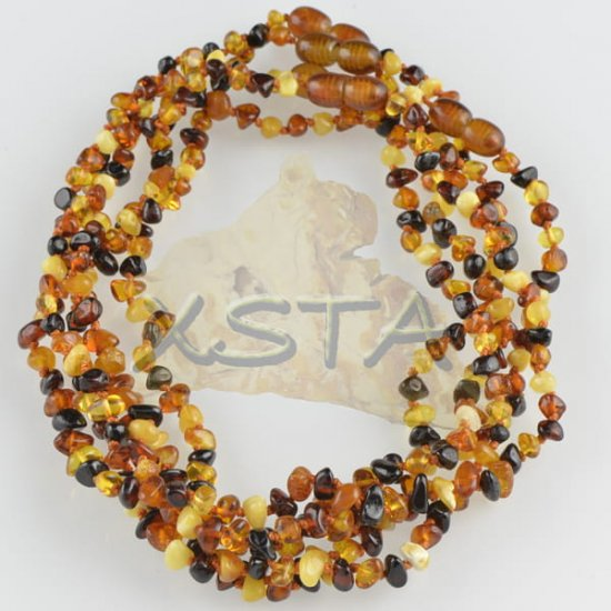 amber teething necklace flat mixed